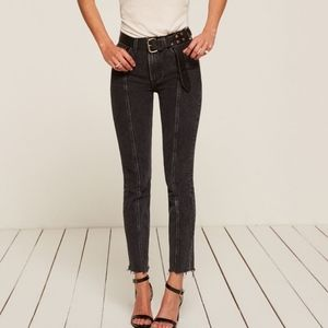 Reformation Seamed High Waisted Jeans 24